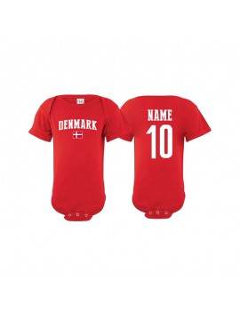 0416a88a051 Denmark flag world cup 2018 Baby Soccer Bodysuit, jersey t-shirts